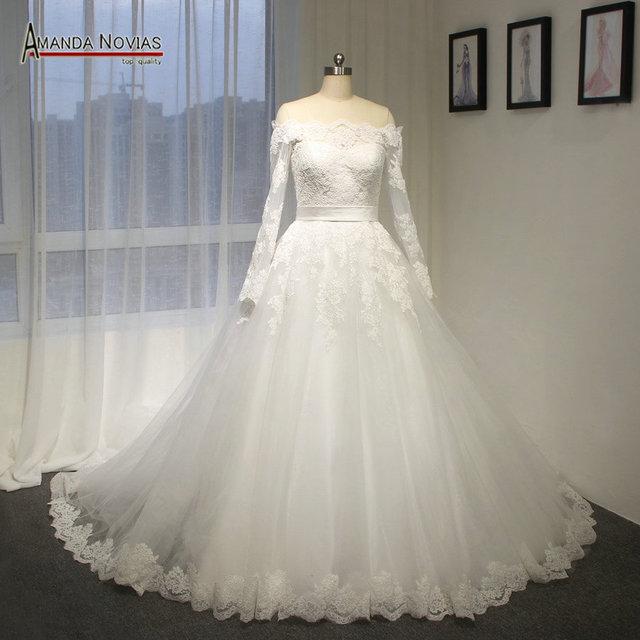 Жилетido де noiva курто аманда Novias рукавами свадебное платье с кружевной