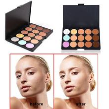 Envío gratis nuevo profesional 15 Color maquillaje crema Palette Concealer del camuflaje Hot 2015