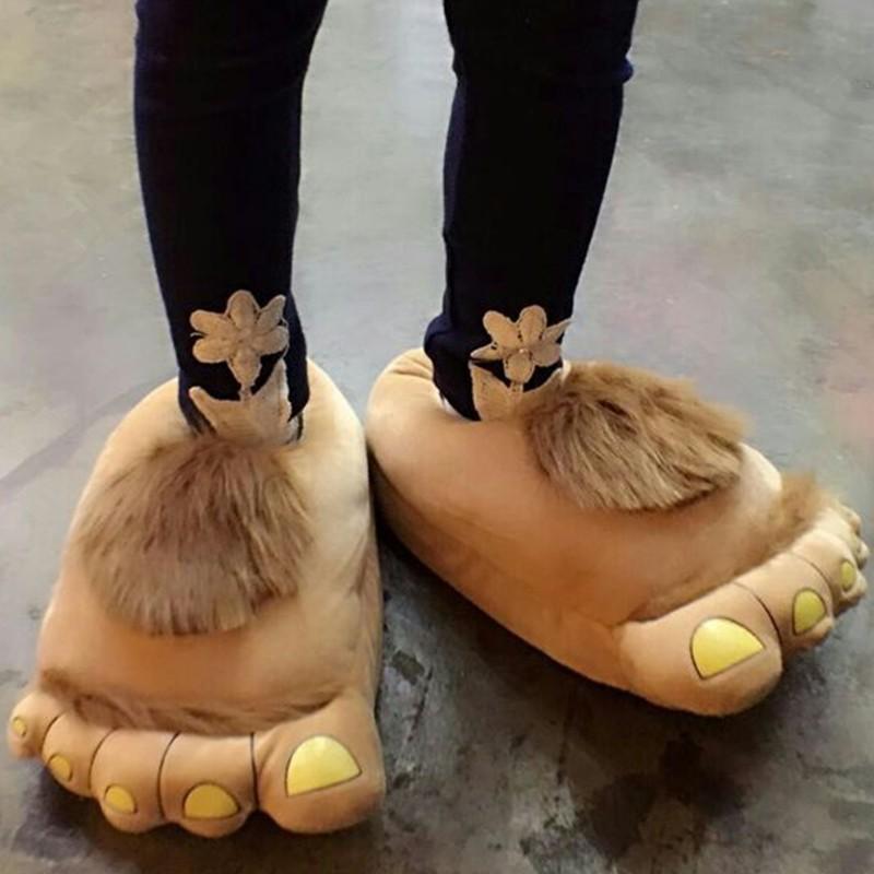 Hobbit Big Feet Unisex Slippers Women Men Fashion Retro Savage Home Shoe Cotton Plush Winter Lover Home Indoor Funny Slipper<br><br>Aliexpress