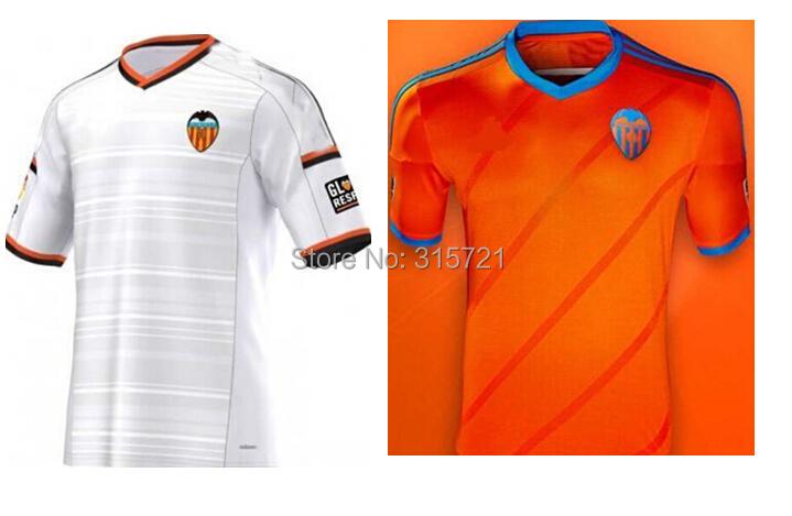 all player Valencia CF football club Paco Rodrigo Ramirez Top Thailand Quality football shirt soccer jersey custom name shorts(China (Mainland))