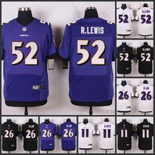 SALE Elite men Baltimore Ravens 52 Ray Lewis 26 Matt Elam 11 Kamar Aiken 5 Joe Flacco E-5(China (Mainland))