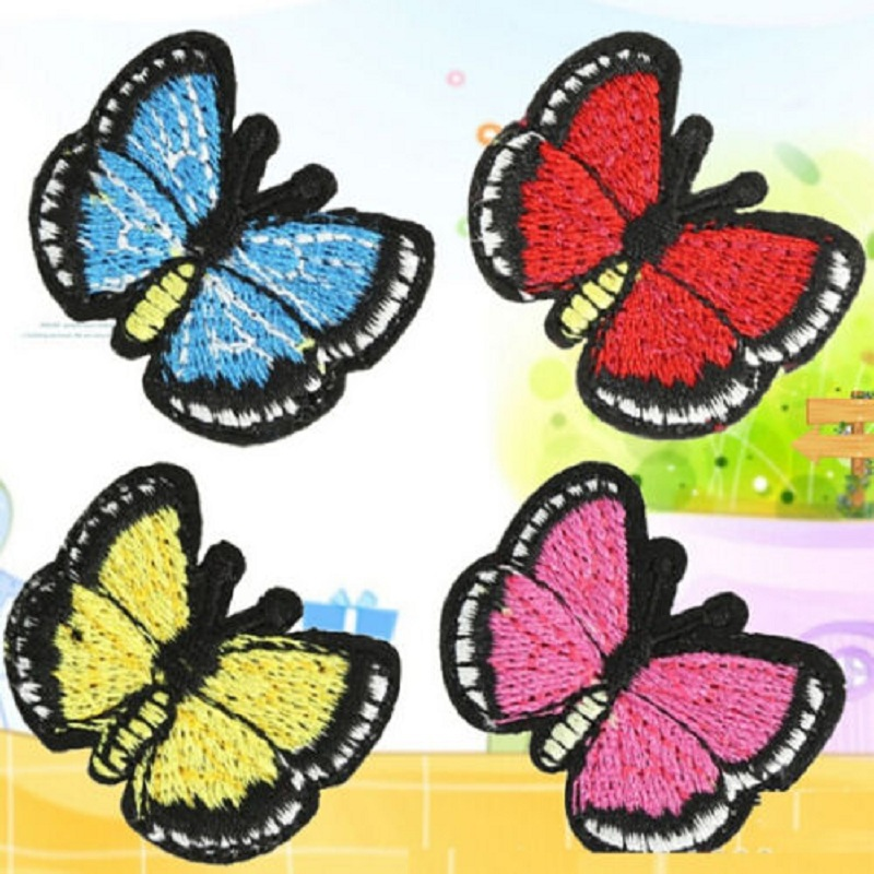 Butterfly embroidery patches makaroka