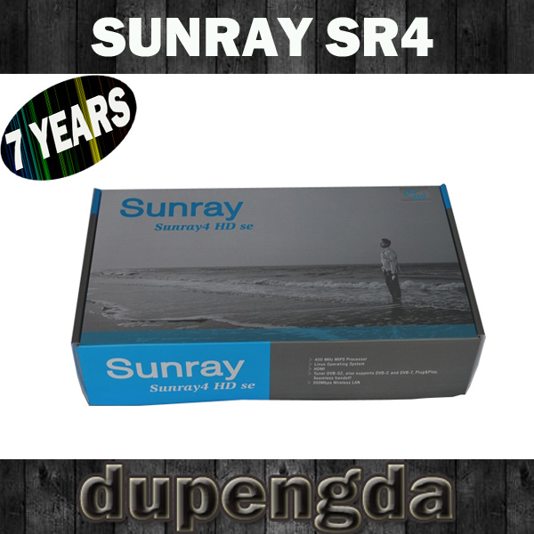 free shipping for sunray sr4 sim 2.10 with triple tuner satellite tv receiver with software download decoder DHL with wifi(China (Mainland))