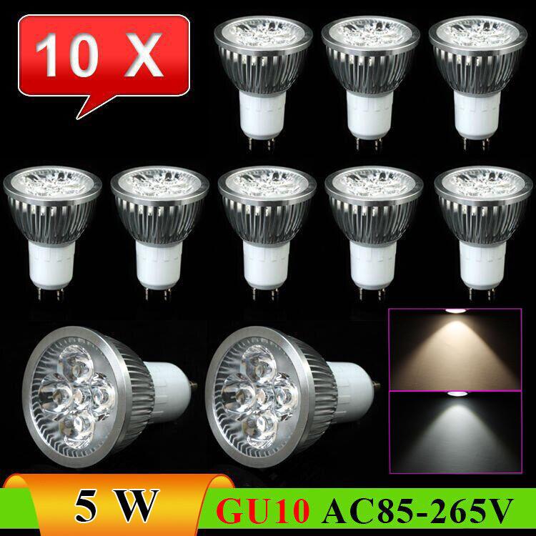 RAYWAY 10pcs/Lot Led spotligt GU10 5W 500lumens Energy - Saving High Bright LED Downlight Spot light ----- Limited Time Offer(China (Mainland))