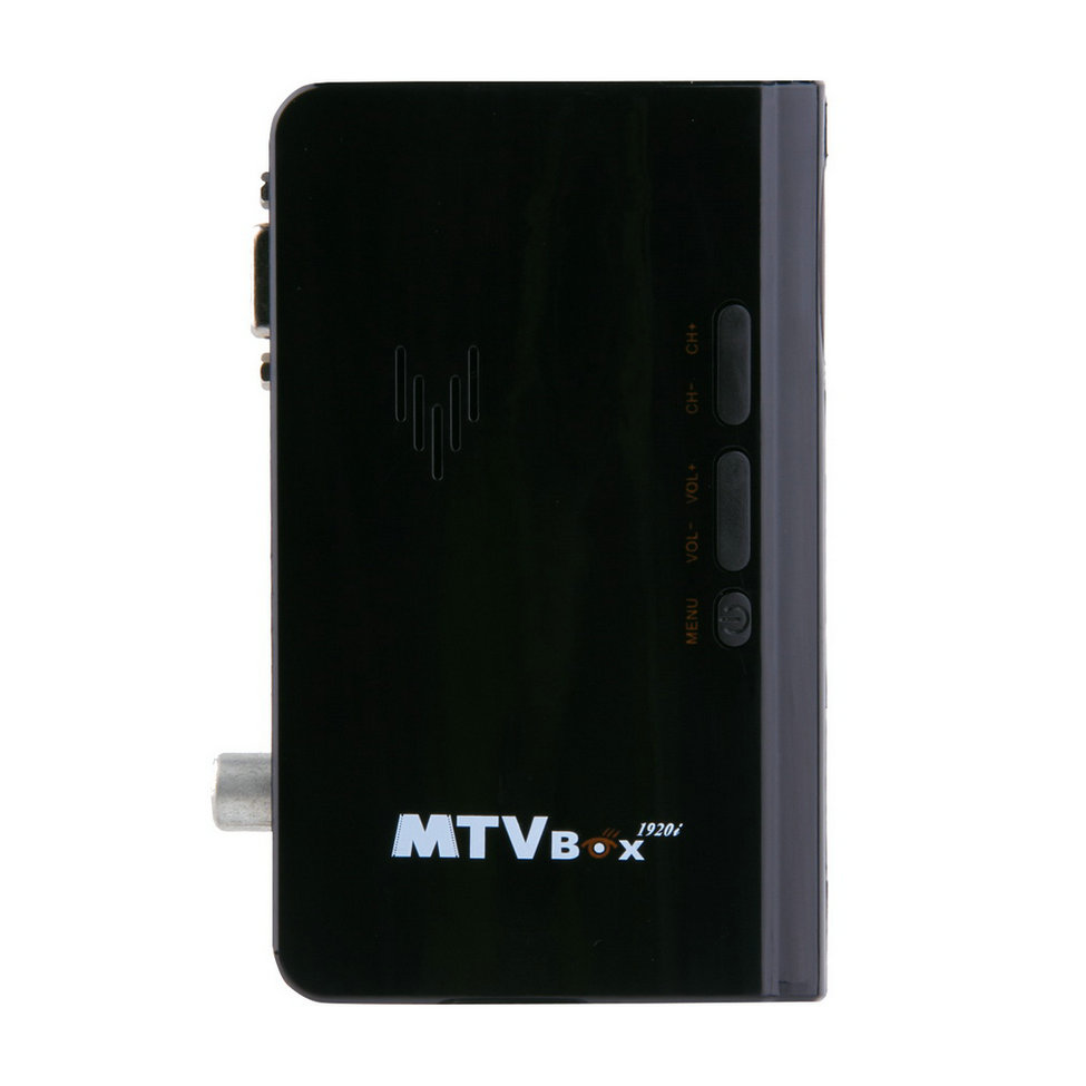 Hot New External LCD CRT VGA External TV Tuner PC BOX Receiver Tuner HD 1080P Speaker TV Box With Remote Control(China (Mainland))