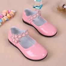 ילדים בנות נעלי יפה תחרה פרחי עור בית ספר בנות שמלת נעלי אביב סתיו נעלי ערב מסיבת חתונה עבור בנות(China)
