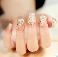 Free shipping ,Particularly cheap pearl diamond Fingernail ,false finger