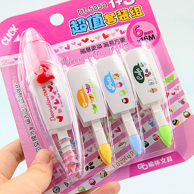 Japan push creative stationery lace correction tape can be replaced with a modified core value package with Japan<br><br>Aliexpress