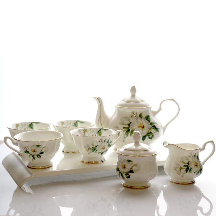 England Style Royal Bone China Tea Coffee Set Fashion Coffee Set 8 Pieces Set
