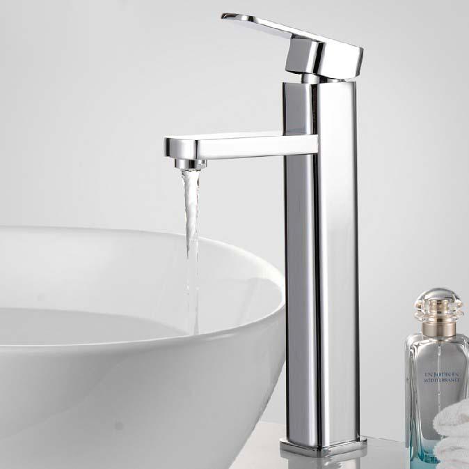 Modern Zinc Alloy Bathroom Faucet Single Handle Mixer Tap( Chrome Finish)(China (Mainland))