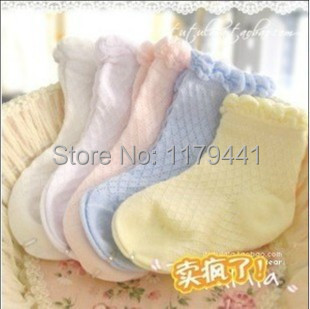 Meia Lamaze Toys Ventilated mesh Socks Cotton Boy's Girl's soild candy Baby Children's Sock 1-5years 10pair=20pc=lot Wholesale(China (Mainland))