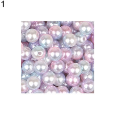 4/6/8/10 มม. 1 แพ็ค Faux Pearl ลูกปัดสร้อยข้อมือ DIY (China)