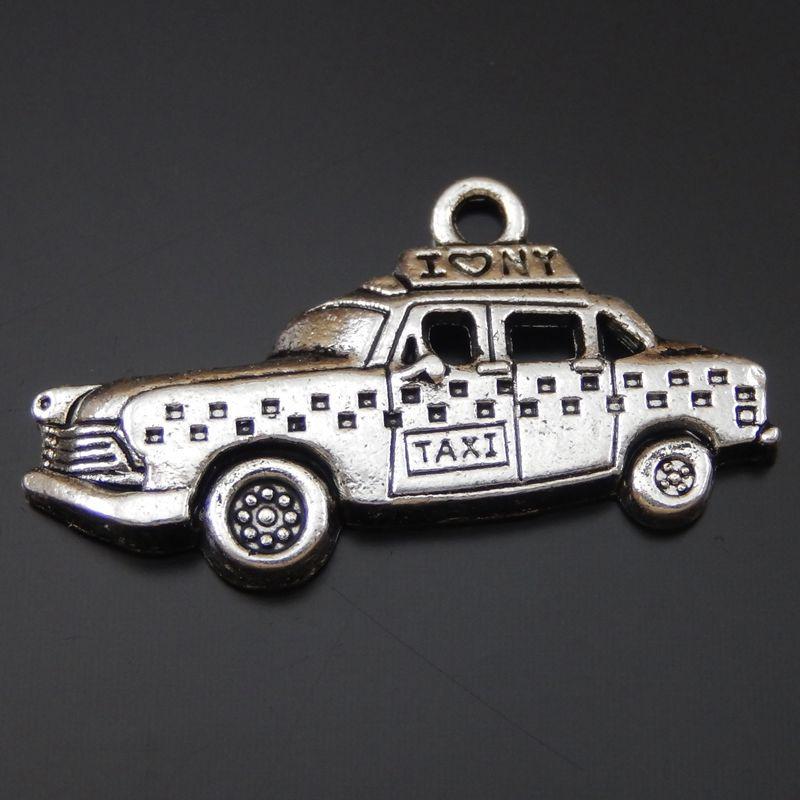 15pcs New Arrival Pendant Antique Silver Alloy Pendant Taxi Car Base Charm Pendants 32*17*3mm 50324(China (Mainland))