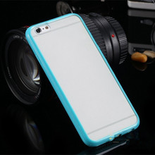 For iPhone6/6s Cases Colorful Super Slim Soft TPU Frame Matting Cver For iPhone6 plus/6s plus Shell Hu577