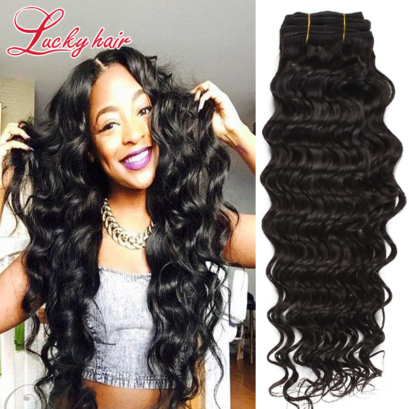 Brazilian Deep Wave Virgin Hair Wet And Wavy Virgin Brazilian Hair Deep Wave 7A Grade Brazilian Hair Weave Bundles