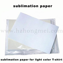 Sublimation paper ( made in Chna)  for light T-shirt(China (Mainland))