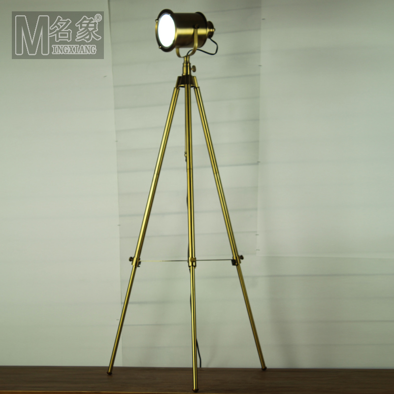 Modern home decoration antique brass living room floor for Living lighting floor lamps