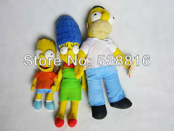 Wholesale The Simpsons Movie cartoon plush toy best gift 3pcs/lot cute movie toy Free shipping