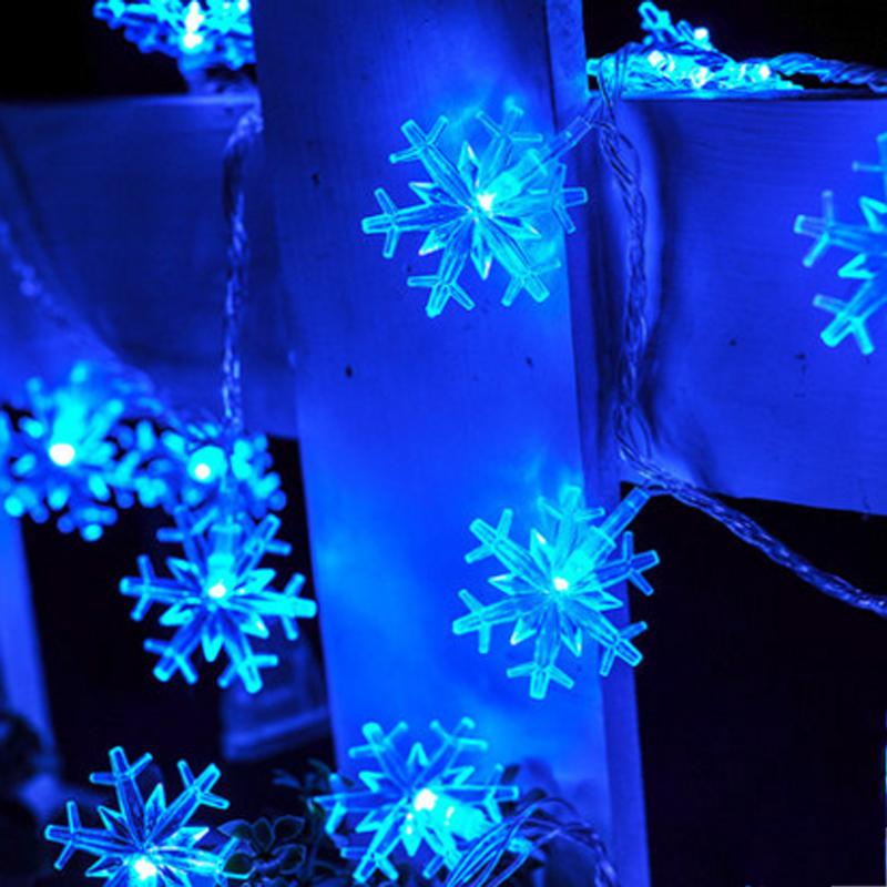 220V EU Plug Icicle Snowflake LED String Lights Christmas 10m 100 Led Fairy Light Holiday Party Wedding Decoration(China (Mainland))