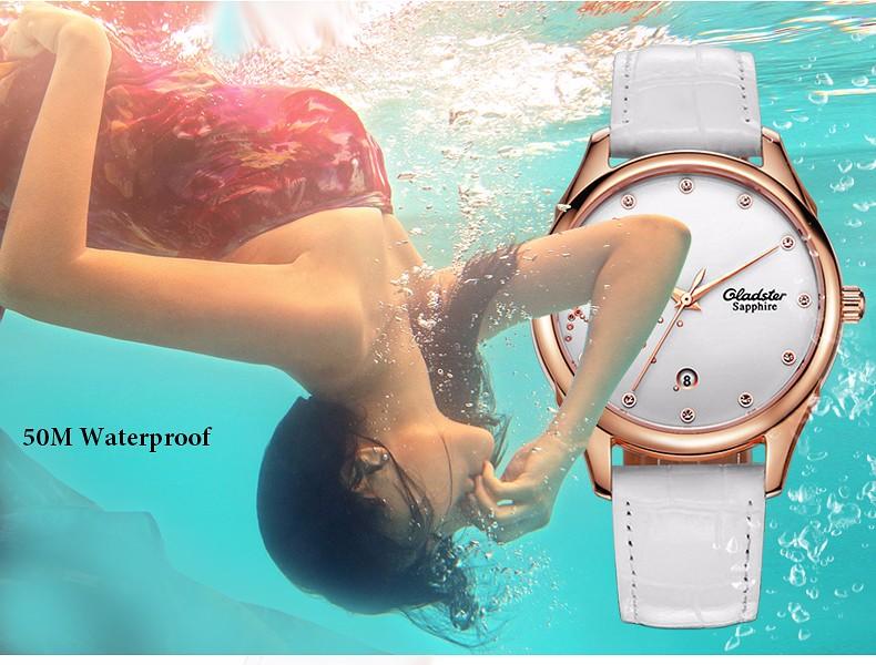 Gladster Watch Fashion Women Watches Top Luxury Brand Red Leather Strap Females Quartz Clock Ladies Wristwatch Montre Femme 2016