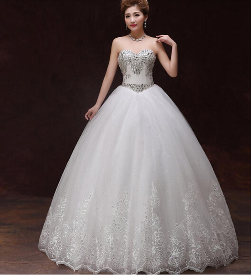 Sparkly Ball Gown Wedding Dresses: Promotion In Stock 2015 Sweetheart Ball Gown Wedding Dress