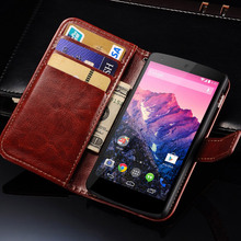Luxury Wallet Style PU Leather Case For LG Google Nexus 5 D821 D820
