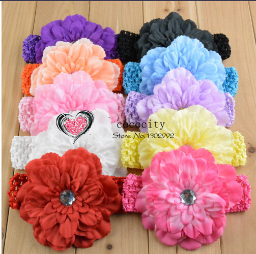 free shipping New ArrivalGirls Lace Headband Baby Chiffon Flower Headband Infant Hair Weave band Hair Accessories baby's Gift(China (Mainland))