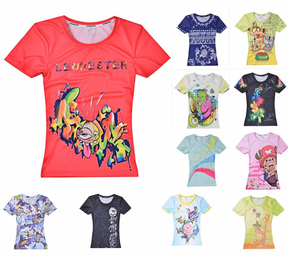 2015New Women Outdoor sports Badminton Football Basketball Fitness Tennis Mesh casual T-Shirt Top jersey Top S~3XL 11 style(China (Mainland))
