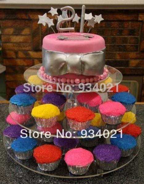 3 tier acrylic cupcake stand, acrylic cupcake tower display holder(China (Mainland))