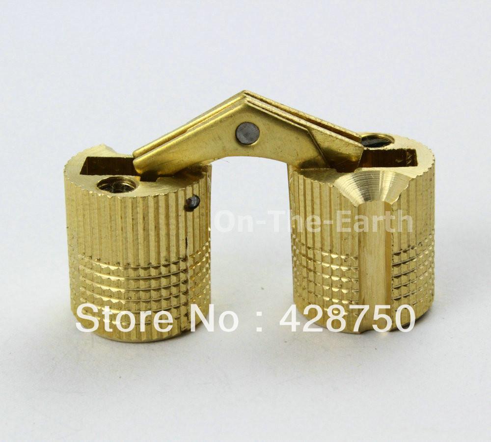 8PCS/Lot HIDDEN HINGE INVISIBLE HINGE BARREL CONCEALED HINGE 14mm  - BRASS