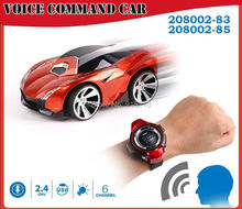 Voice Command RC Car,radio control toys watch comes with voice features rc model car toys,6CH  Smart Watch remote control Car (China (Mainland))