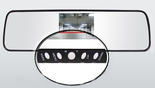 Bluetooth Car rearview mirror with 3.5 inch monitor,Input Video wire ( 2 AVIN )(China (Mainland))