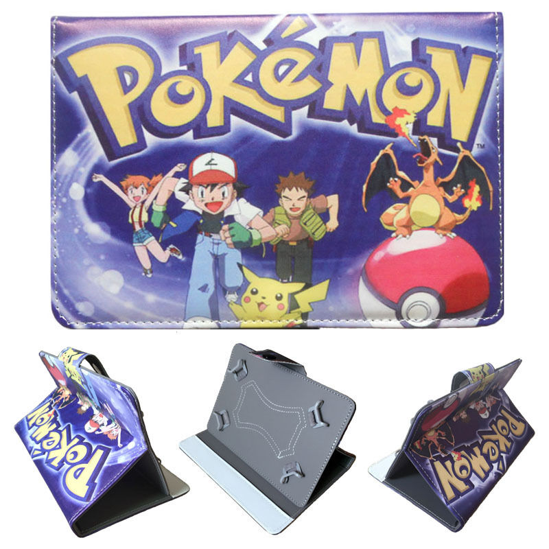 Pokemon GO Pocket Monster Protective Leather Stand Cover Case for Teclast P70 4G Android 5.1 Phone Call Tablet PC 7 inch(China (Mainland))