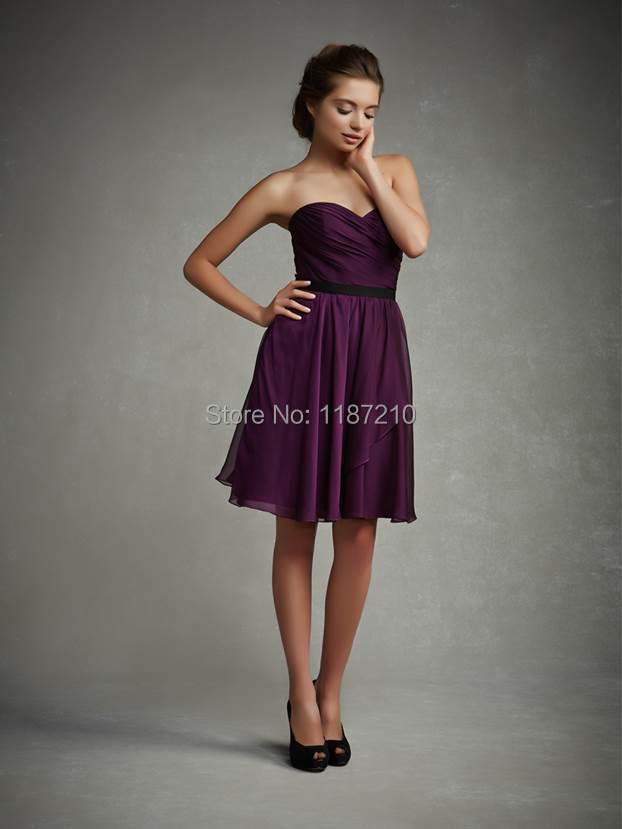 2015 Low Price Knee Length Short Bridesmaid Dresses ...
