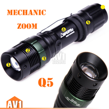 Mechanical zoom LED flashlight. Bright high power Aluminum small pocket flashlights water proof.free shipping.long-range outdoor(China (Mainland))