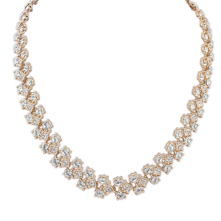Elegance set with CZ diamonds choker collar necklace Women metal exquisite rhinestone tie statement thick chain necklace 2015(China (Mainland))