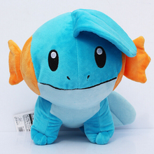 1pcs 18cm Pokemon Mudkip Plush Toy Stuffed Soft Doll With Tag Brithday Gift  Free Shipping kids toys kawaii plush toys