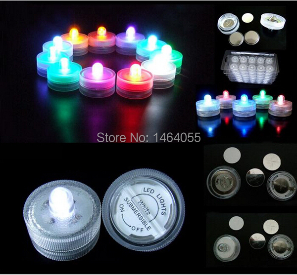 2015 hot sale colorful Flameless LED waterproof Candles Lights for Party Events Christmas festival wedding accessories(China (Mainland))