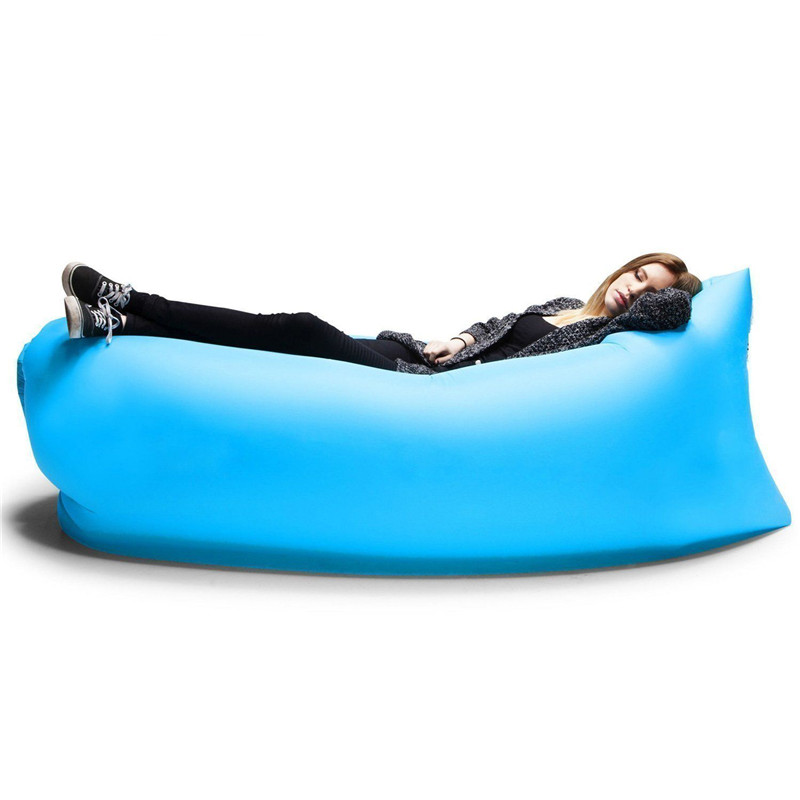 Lounger Fast Inflatable Sofa Outdoor Air Sleep Sofa Couch Portable Furniture Living Room Sofas for Summer Camping Beach Hammock(China (Mainland))