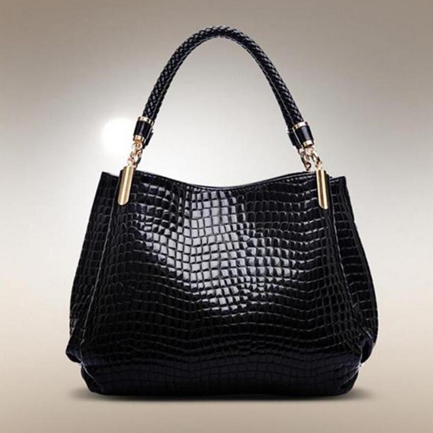 Free Shipping 2015 New Fashion Bag Leather Women Handbag Shoulder Bags Crocodile Women Messenger Bags Bolsas School Bags B014<br><br>Aliexpress