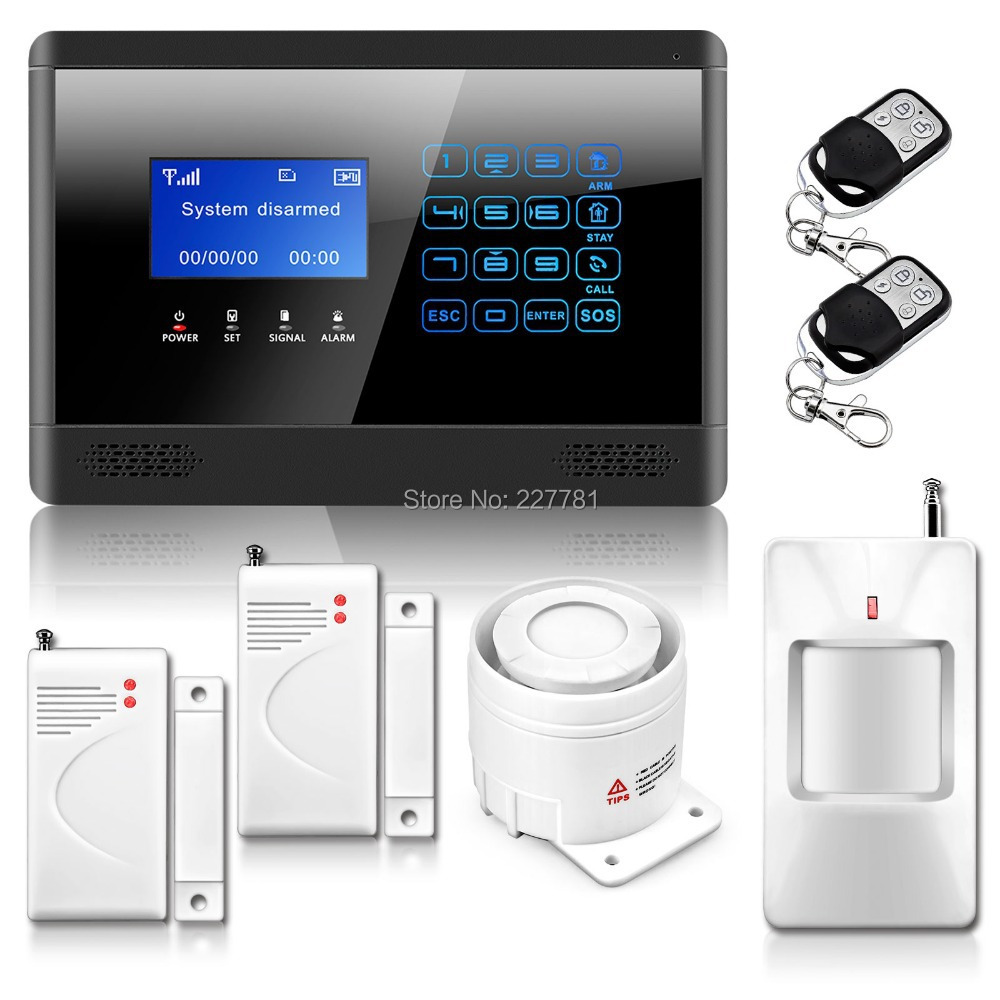 Home Wireless GSM SMS Alarm System Touch Keypad Security &amp; Protection Alarm Wireless Sensor M2BX<br><br>Aliexpress