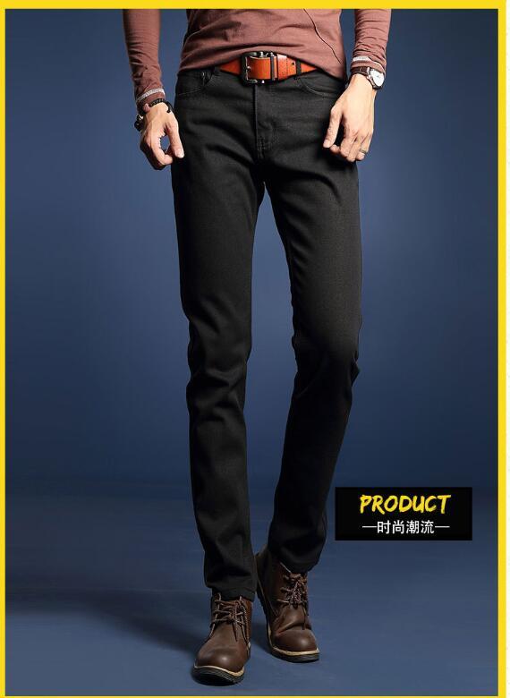 Blue Denim Pants Men Slim Fit Trousers Male All seasons Good Quality Cotton Jeans Homme Famous Brand European Classic(China (Mainland))