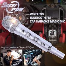 K9 FM RAD 107.6 HZ Coche Micrófono canción K Bolsillo Karaoke KTV micrófono Para IOS Android Smartphone Teléfono Mesa De PC Del Coche con altavoz(China (Mainland))
