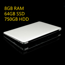 1920X1080P IPS FHD Screen 8GB RAM+64GB SSD+750GB HDD ZET Ultrathin Quad Core Fast Running Laptop Netbook Notebook Computer
