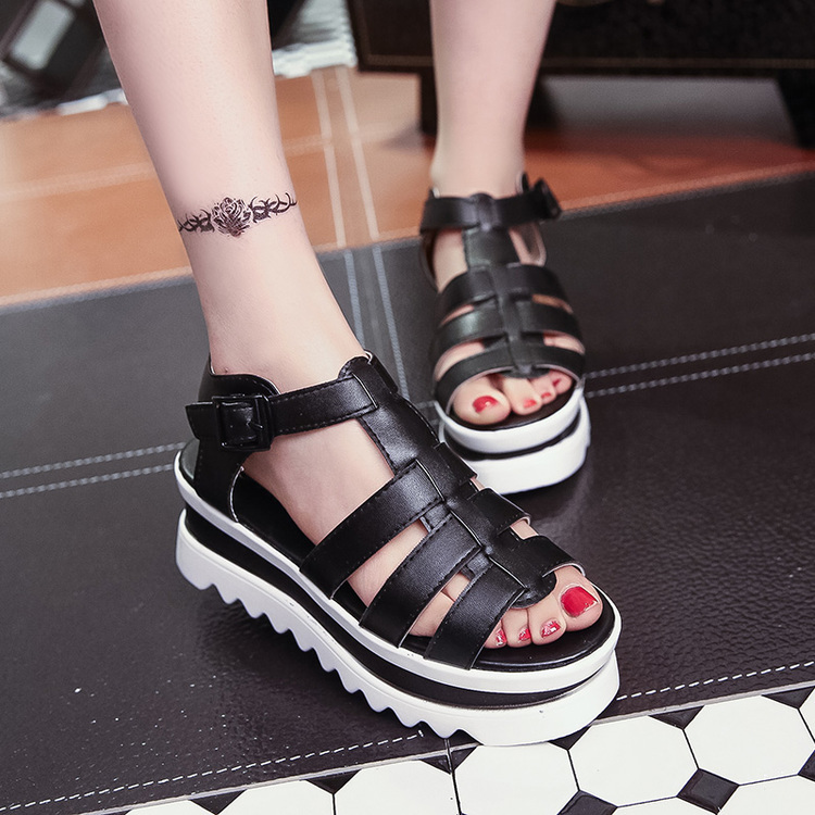2015 Women Platform Sandals Open Toe Gladiator Sandals Women Casual Summer Shoes Woman Thick High Heel Wedge Sandals