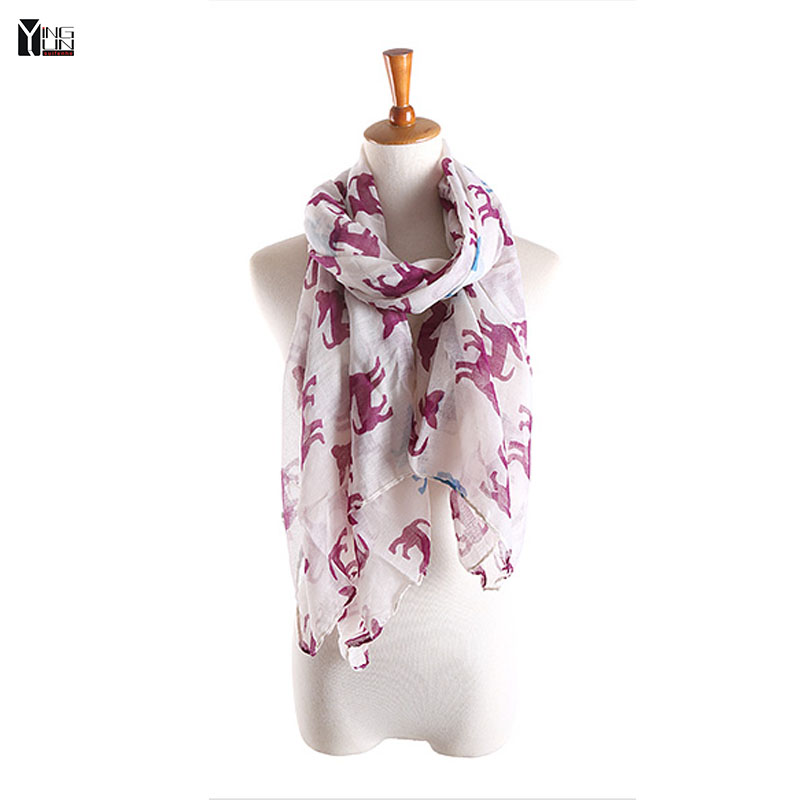 New fashion 2016 hot sale cartoon dogs print voile woman scarf long square lady shawls women sun protection shawl wrap scarves(China (Mainland))