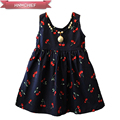 2017 Summer Girl Dress Cute Print Children Princess Dresses Baby A Line Lovely Sleeveless Kids Cotton