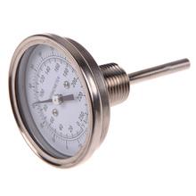 3 x 1 / 2 termómetro de acero inoxidable todavía alcohol ilegal condensador Brew Mash Tun termómetro para horno termometro cozinha FE #8(China (Mainland))