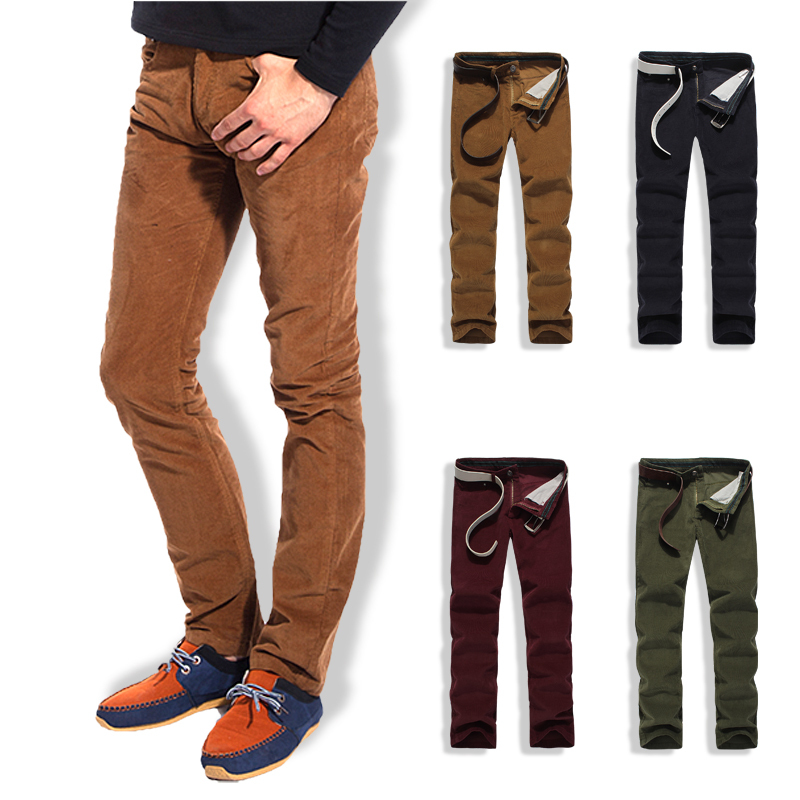 mens slim corduroy pants - Pi Pants