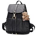 Trendy New Knitting Bag Front Patch Pocket Side And Backside Zippers Women Designer Drawstring Flap Bag